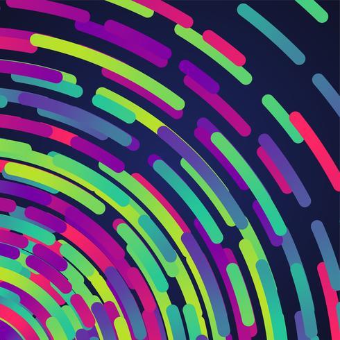 Fondo de círculos de colores neón, vector