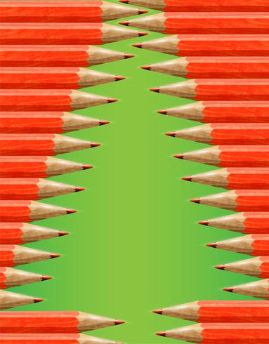 Christmas tree made by red pencils, vector