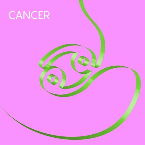 Il nastro variopinto modella un segno dello zodiaco, vettore