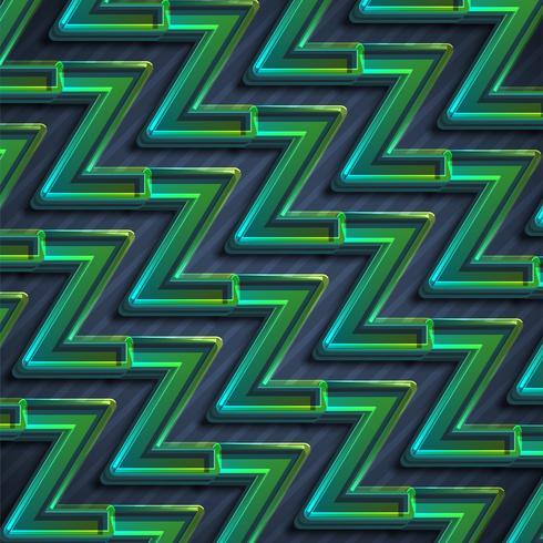 Fondo verde colorido del extracto del zigzag, ilustración del vector