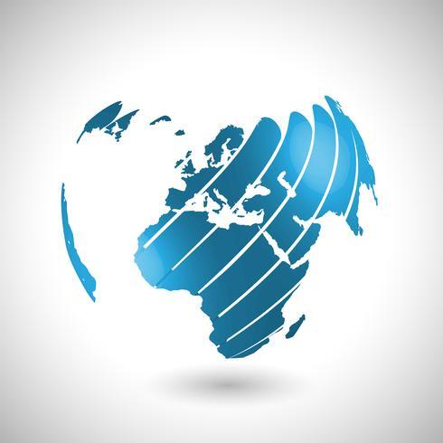Abstrakt världs illustration, vektor