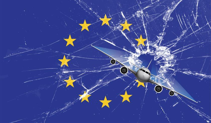 Estrela da Grã-Bretanha tiro da bandeira da UE, ilustração vetorial