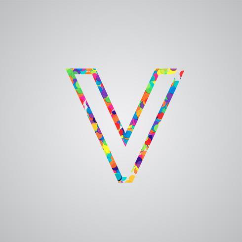Bunter Charakter von einem Schriftsatz, Vektorillustration vektor