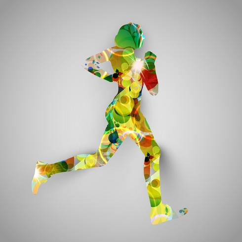 Colorful runner vector illustration