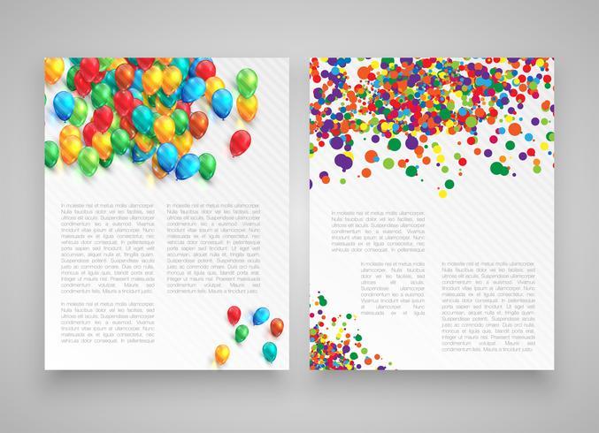 Bunte realistische Schablonen für die Werbung oder Darstellung, Vektorillustration vektor