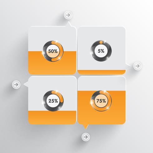 Modèle de vecteur de chargement orange