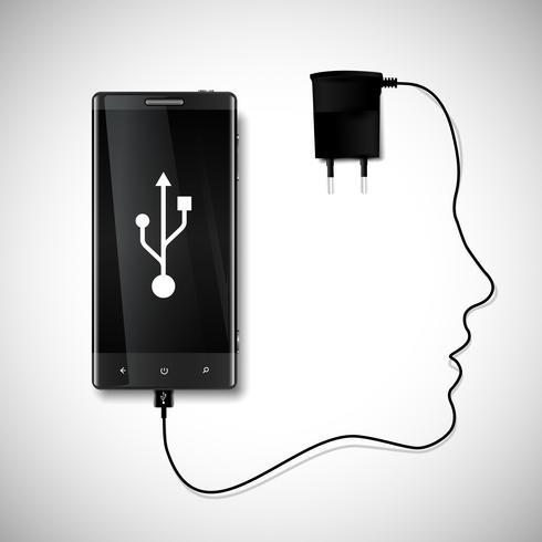 Téléphone portable avec un visage