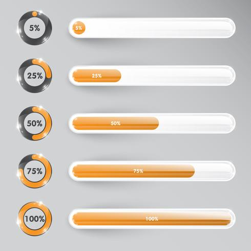 Orange loading vector template