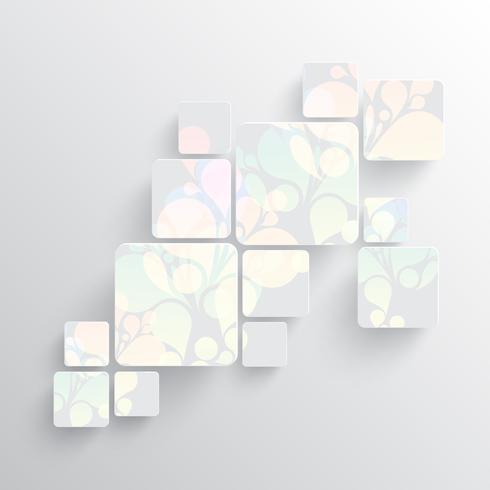 Bunte Schablone für die Werbung, Vektorillustration