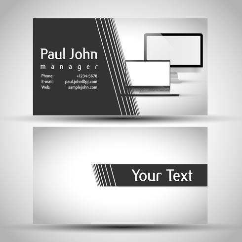 Abstract business card front and back design vector