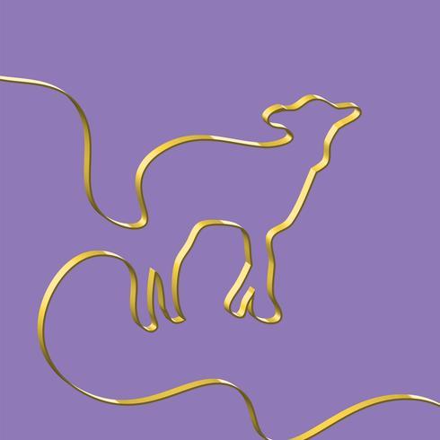 Il nastro realistico modella un animale, illustrazione di vettore