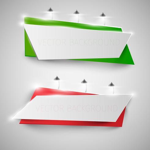 Realistische Anschlagtafeln mit Lichtern, Vektorillustration