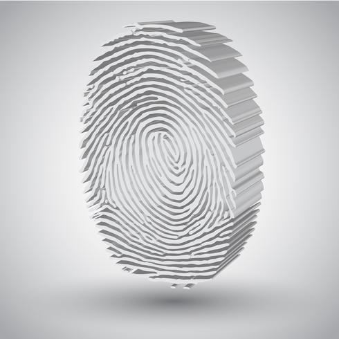 Fingerabdruck in der Illustration des Vektor 3D