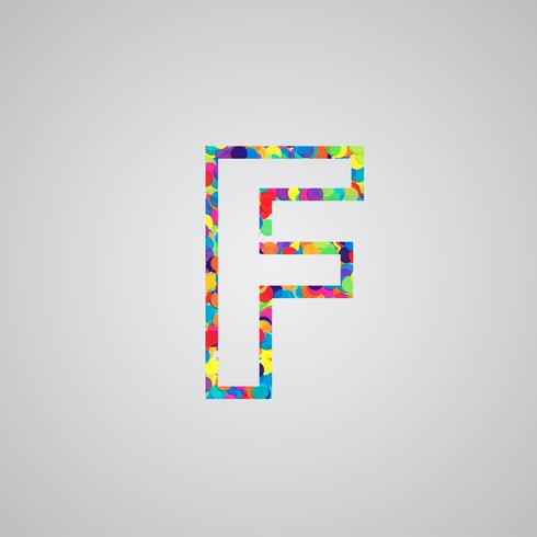 Kleurrijk karakter van een gezet, vectorillustratie vector
