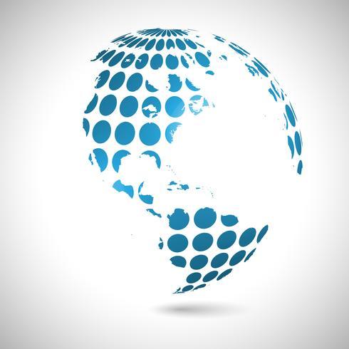 Abstrakte Weltabbildung, Vektor