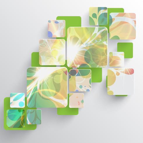 Plantilla de colores para la publicidad, ilustración vectorial