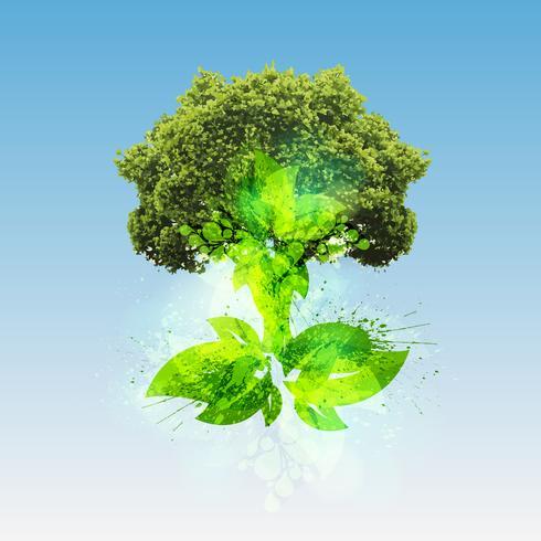 Green world, vector