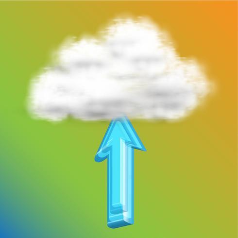 Carica nel cloud, vettoriale