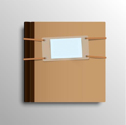 Realistisch notitieboekje, vectorillustratie
