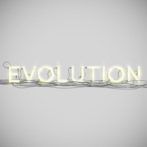 Neon elektrisch woordtype, vectorillustratie vector