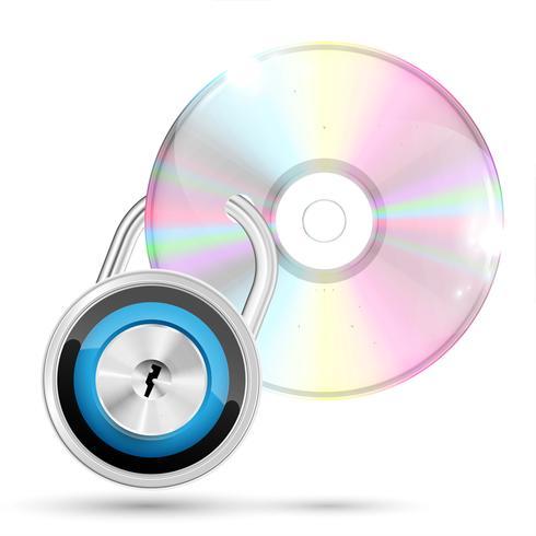 CD / DVD auf weißem Hintergrund, Vektorillustration vektor