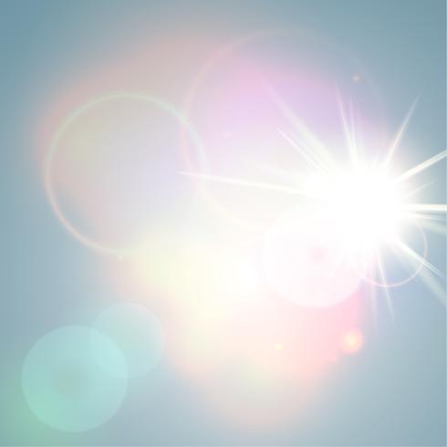 Glänsande, solig abstrakt vektor bakgrund