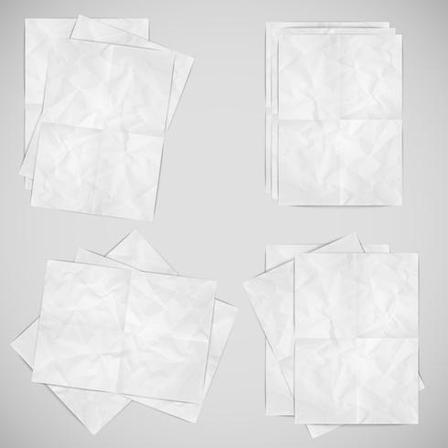 Realistic papers, vector illustration