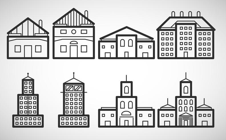 Icône de logement, illustration vectorielle