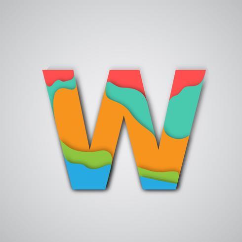 Papercut colorido personaje en capas, vector