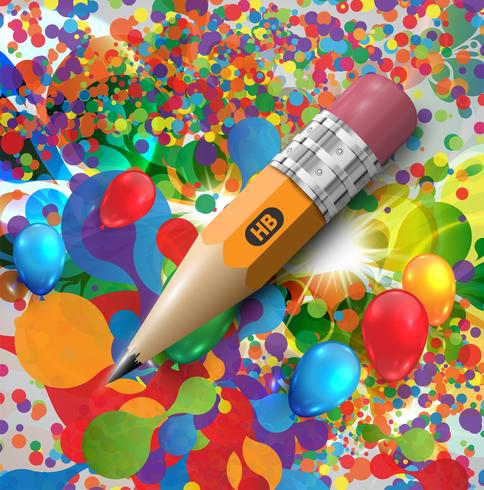 Colorful pencil, vector