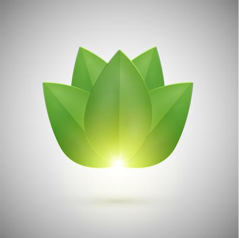 Abstrakt gröna blad, vektor