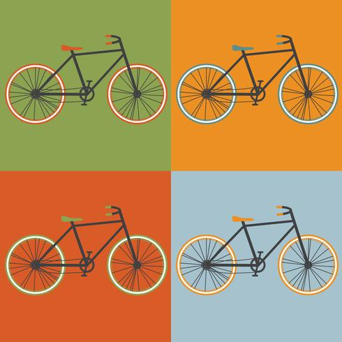 Illustration vectorielle de Oldschool style bycicle