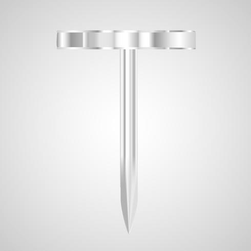 Vector metal pin