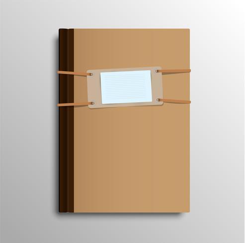 Realistisches Notizbuch, vektorabbildung