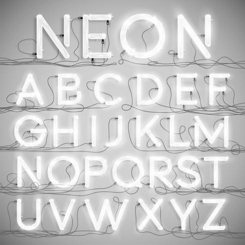 Néon réaliste avec fils (ON), vector