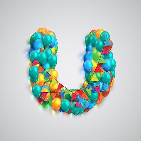 Fuente colorida hecha por globos, vector