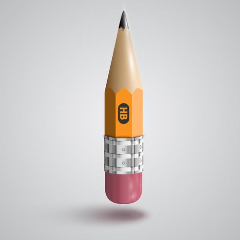 Realistic pencil vector illustration