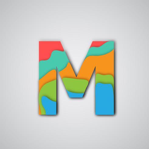 Personnage multicouche de papercut coloré, vector