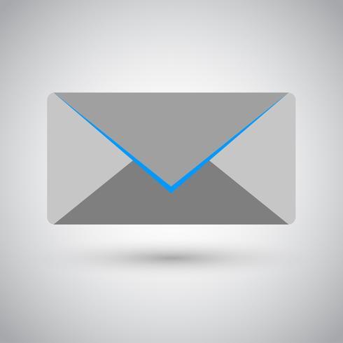 Symbole d'icône d'enveloppe de vecteur
