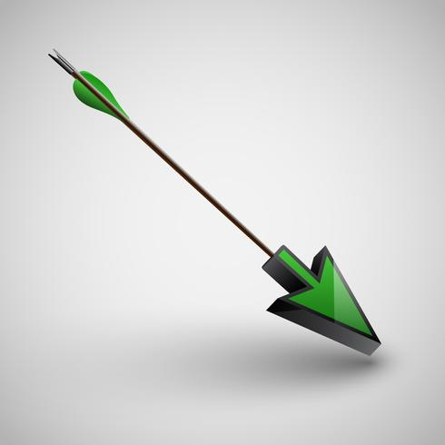 Flecha con punta de flecha, vector