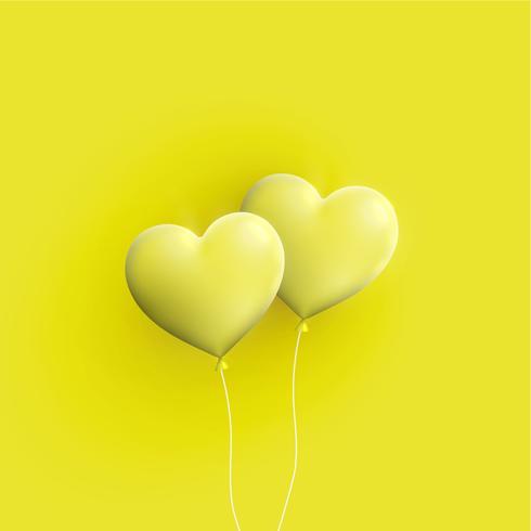 De pastelkleur kleurde 3D harten, vectorillustratie vector