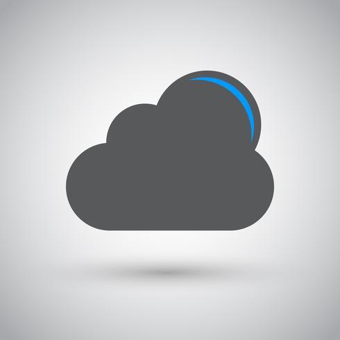 Vector de computación en la nube descargar icono, ilustración vectorial