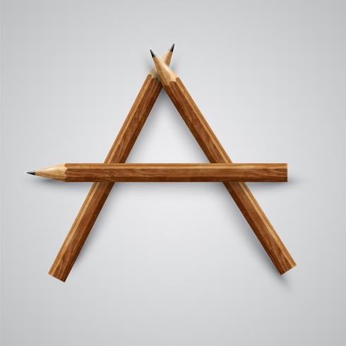 Una lettera fatta a matita, vettore