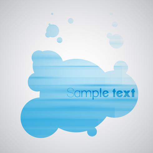 Blå bubbla bakgrund eps10 vektor
