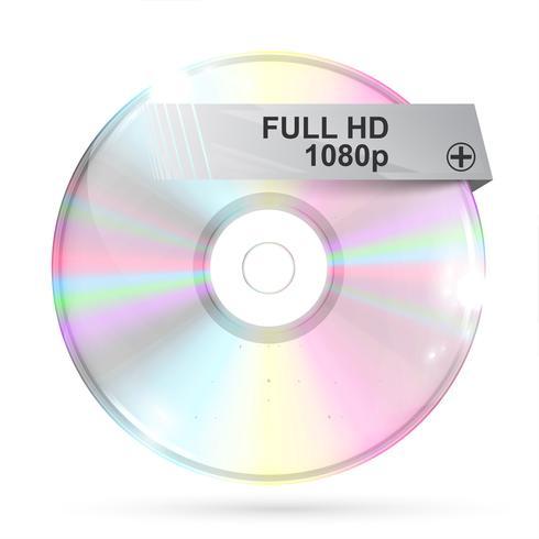 CD / DVD auf weißem Hintergrund, Vektorillustration