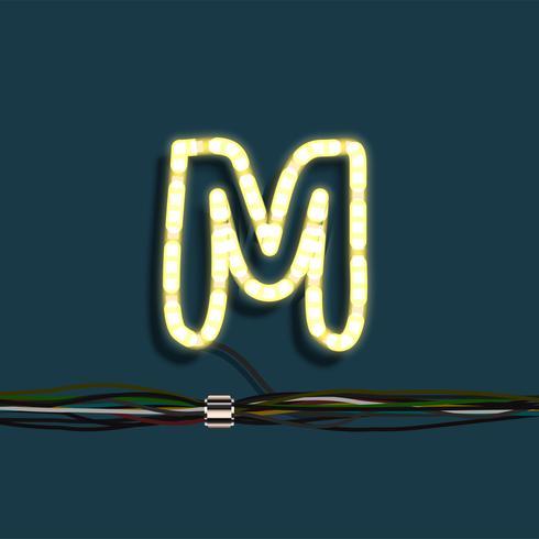Lettera di neon ghirlanda, vettoriale