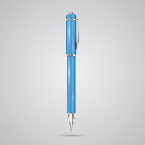 Penna realistica colorata, vettoriale