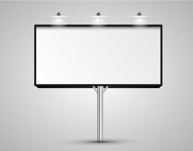 Realistiska skyltar med ljus, vektor illustration