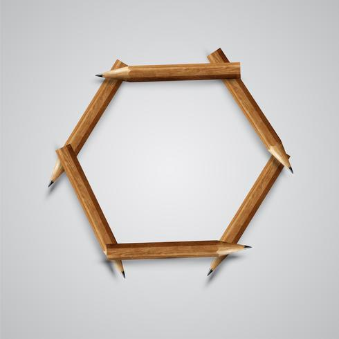 A letter made by pencil, vector