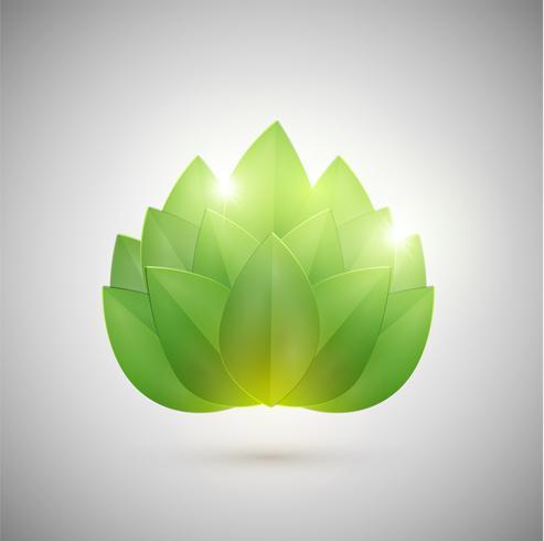 Resumen hojas verdes, vector